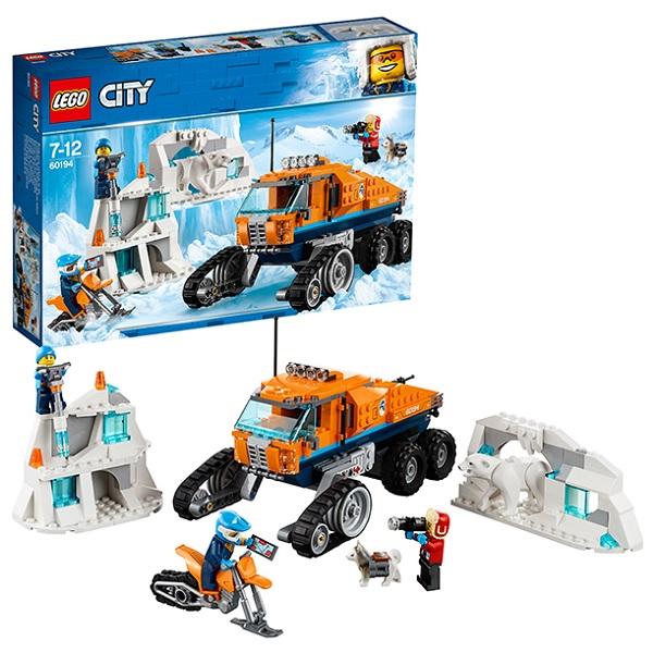 Купить LEGO City 60194 Конструктор ЛЕГО Город Арктическая экспедиция Грузовик ледовой разведки, Конструкторы LEGO