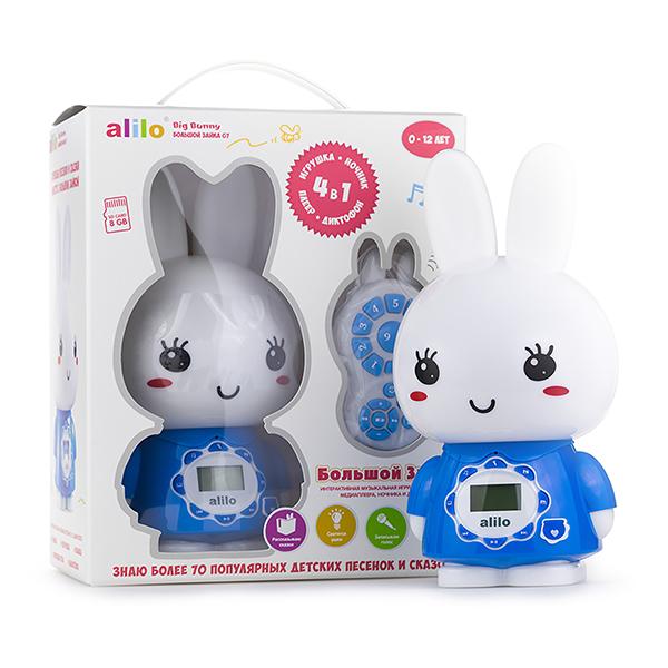 Купить Alilo 60923 Большой зайка G7, синий, Развивающие игрушки для малышей Alilo