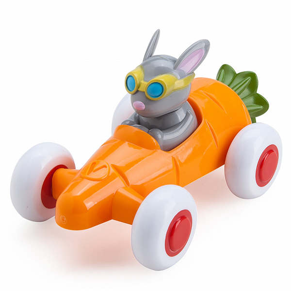 картинка Vikingtoys 81361 Машинка-морковка, с Зайчиком от магазина Bebikam.ru