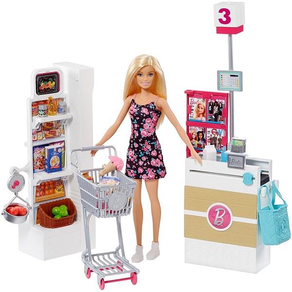 Mattel Barbie FRP01 Барби Супермаркет (в ассортименте) - Куклы и аксессуары