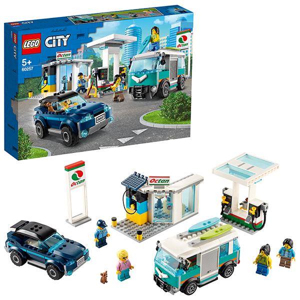 Купить LEGO City 60257 Конструктор ЛЕГО Город Turbo Wheels Станция технического обслуживания, Конструкторы LEGO