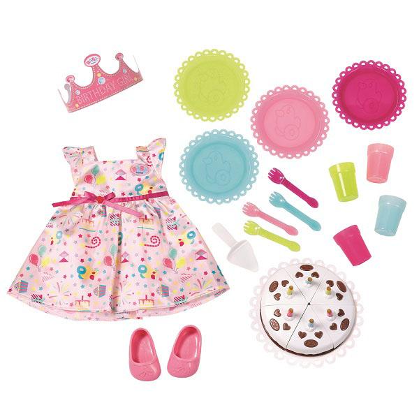 Купить Zapf Creation Baby born 825-242 Бэби Борн Набор для празднования Дня рождения, Аксессуары для куклы Zapf Creation