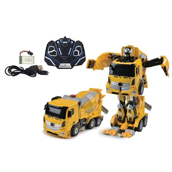 1toy T11022 Робот на р/у, трансформируется в Бетономешалку, со светом и звуком, 38см, коробка по цене 4 599