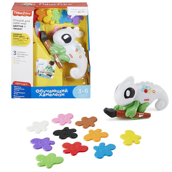 Купить Mattel Fisher-Price FCH23 Фишер Прайс Обучающий хамелеон, Развивающие игрушки для малышей Mattel Fisher-Price