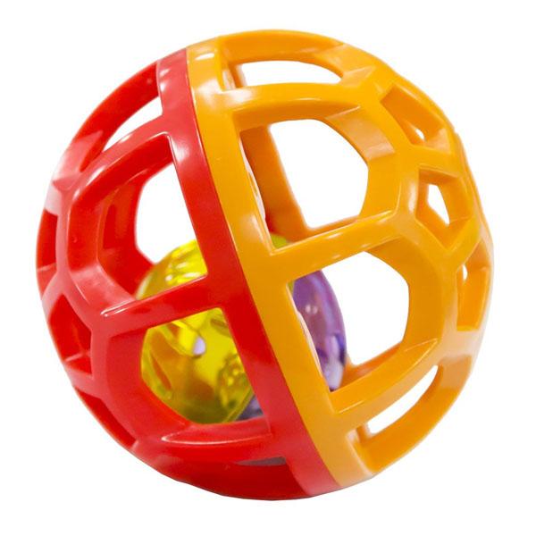 Развивающие игрушки для малышей LITTLE HERO 2005A-2 Шарик-погремушка (синий/салатовый) фото
