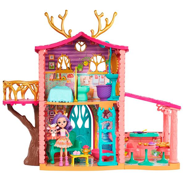 Купить Mattel Enchantimals FRH50 Домик Данессы Оленни, Кукла Mattel Enchantimals