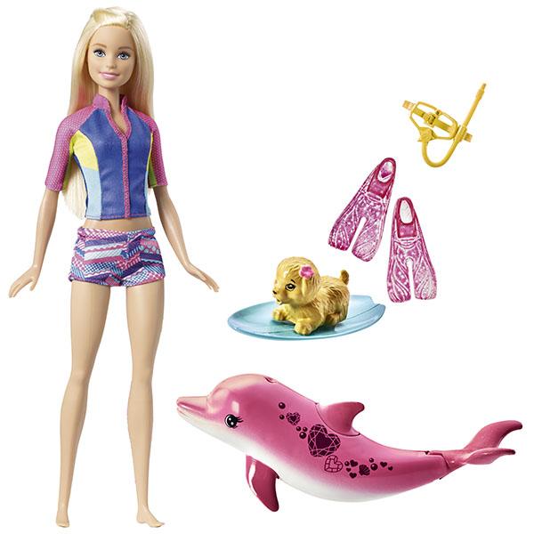 Купить Mattel Barbie FBD63 Барби Главная кукла из серии Морские приключения , Кукла Mattel Barbie