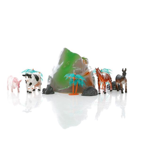Купить HGL SV3471 Игровой набор фермерских животных в тубе, Фигурка Megasaurs (HGL)