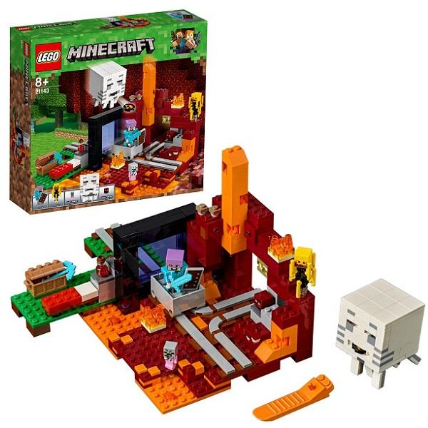 Купить LEGO Minecraft 21143 Конструктор ЛЕГО Майнкрафт Портал в Подземелье, Конструктор LEGO