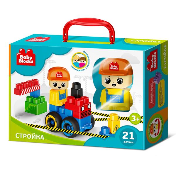Купить Десятое королевство TD03913 Конструктор пластиковый Baby Blocks На стройке 21 деталь
