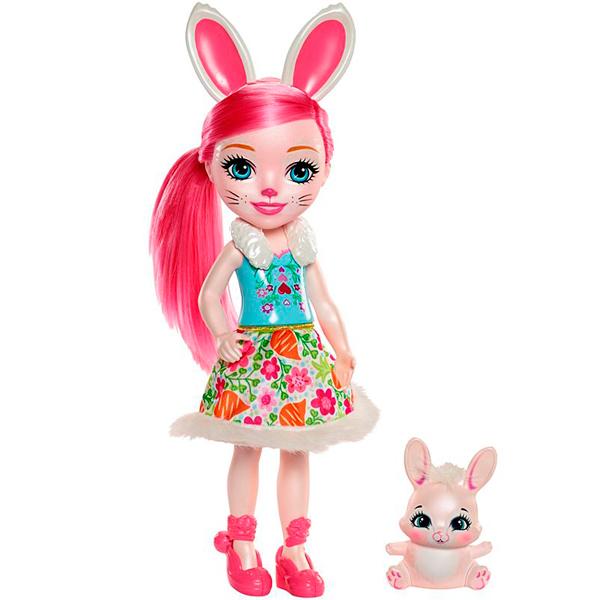 Mattel Enchantimals FRH52 Большая кукла с любимой зверюшкой - Куклы и аксессуары