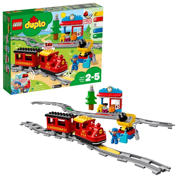 Купить Lego Duplo 10874 Конструктор Лего Дупло Поезд на паровой тяге, Конструкторы LEGO
