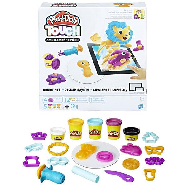 Купить Hasbro Play-Doh B9018 Игровой набор Лепи и делай причёски , Пластилин Hasbro Play-Doh