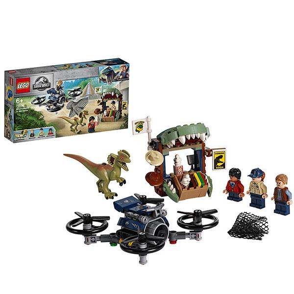 Купить LEGO Jurassic World 75934 Конструктор ЛЕГО Побег дилофозавра, Конструктор LEGO
