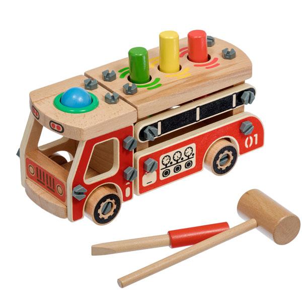 Деревянные игрушки Игрушки из дерева D033 Конструктор Машина фото