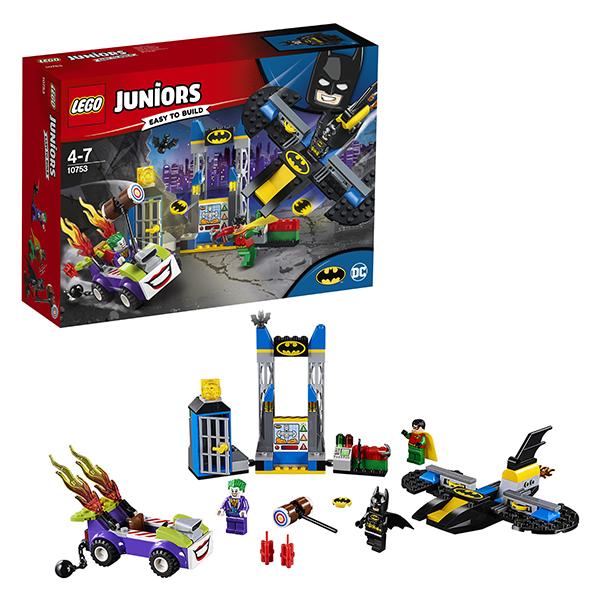 LEGO Juniors 10753 Конструктор ЛЕГО Джуниорс Нападение Джокера на Бэтпещеру, Конструкторы LEGO  - купить со скидкой