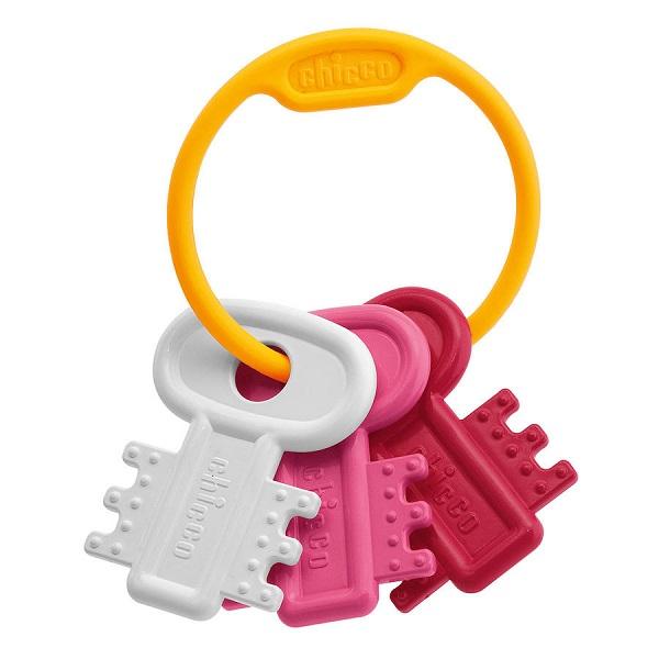 Купить CHICCO TOYS 632161 Погремушка Ключи на кольце розовая от 3 месяцев, Погремушка CHICCO TOYS