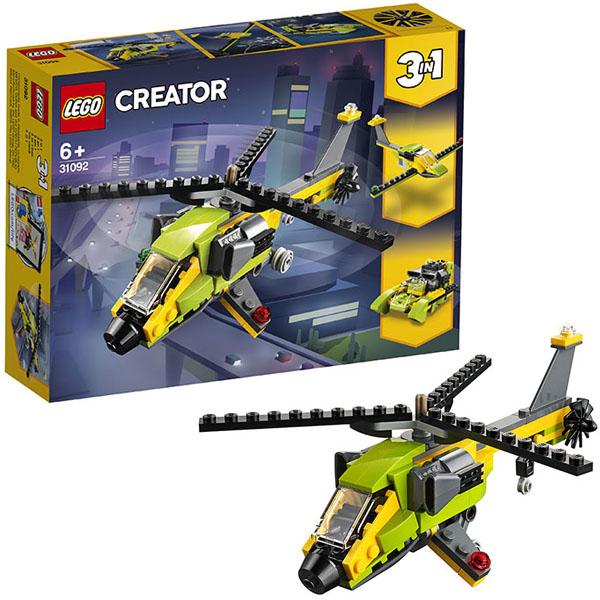 Купить LEGO Creator 31092 Конструктор ЛЕГО Криэйтор Приключения на вертолёте, Конструктор LEGO