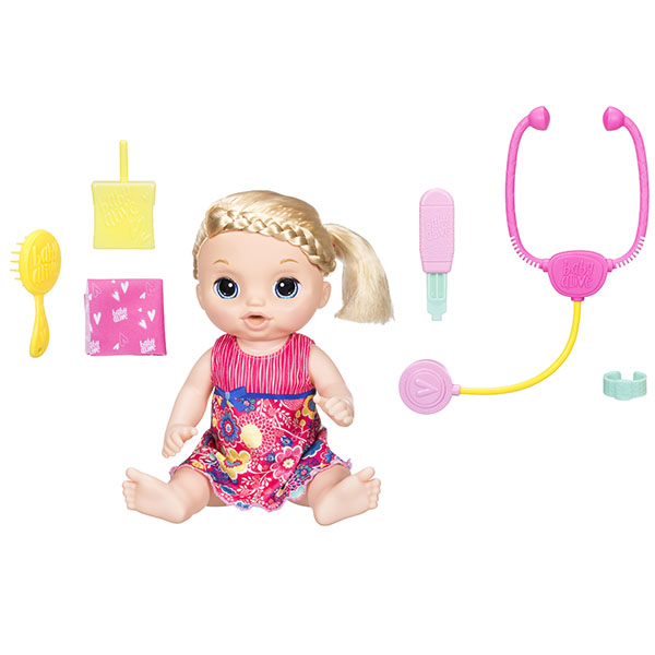 Купить Hasbro Baby Alive C0957 Малышка у врача, Кукла Hasbro Baby Alive
