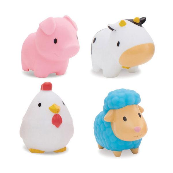 Купить MUNCHKIN 12000D Игрушка для ванны Деревенские зверюшки 4 шт, Игрушки для ванной MUNCHKIN