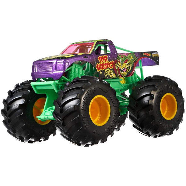 Купить Mattel Hot Wheels GBV38 Хот Вилс Монстр трак 1:24 TEST SUBJECT, Игрушечные машинки и техника Mattel Hot Wheels