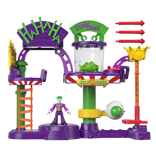 Купить Mattel Imaginext GBL26 Веселый дом Джокера с трамплином, Игровые наборы и фигурки для детей Mattel Imaginext