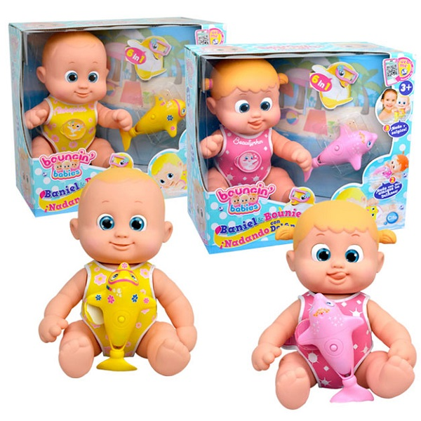 Куклы и пупсы Bouncin' Babies Bouncin' Babies 801011 Кукла плавающая с дельфином, 35 см по цене 2 379