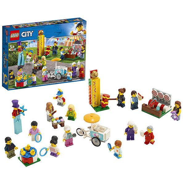 Купить LEGO City 60234 Конструктор ЛЕГО Город Комплект минифигурок Весёлая ярмарка, Конструктор LEGO
