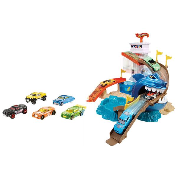 Купить Mattel Hot Wheels BGK04 Хот Вилс Игровой набор Атака акулы ( COLOR SHIFTERS ), Игрушечные машинки и техника Mattel Hot Wheels