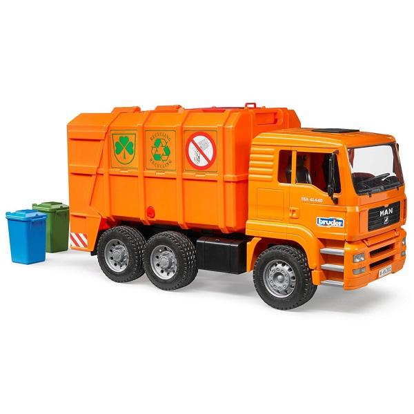 Игрушечные машинки и техника Bruder Bruder 02-760 Мусоровоз MAN TGA, цвет оранжевый по цене 4 499