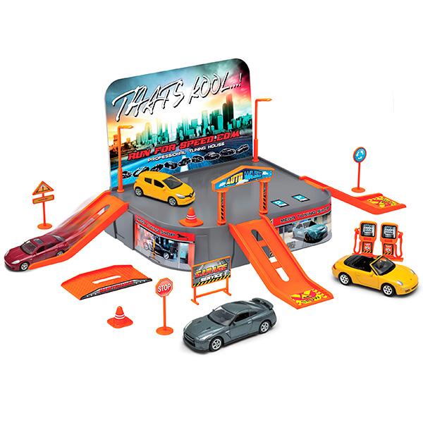 Купить Welly 96020 Велли Игровой набор Гараж, включает 1 машину, Машинка Welly