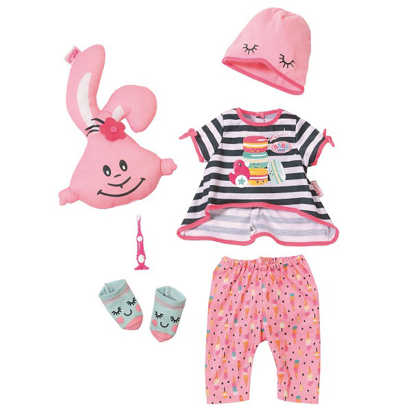 Zapf Creation Baby born 824-627 Бэби Борн Набор одежды Пижамная вечеринка, арт:153053 - Одежда и аксессуары для кукол, Куклы и аксессуары
