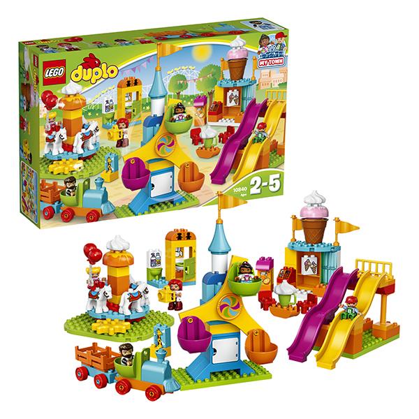 Купить LEGO DUPLO 10840 Конструктор ЛЕГО ДУПЛО Большой парк аттракционов, Конструктор LEGO