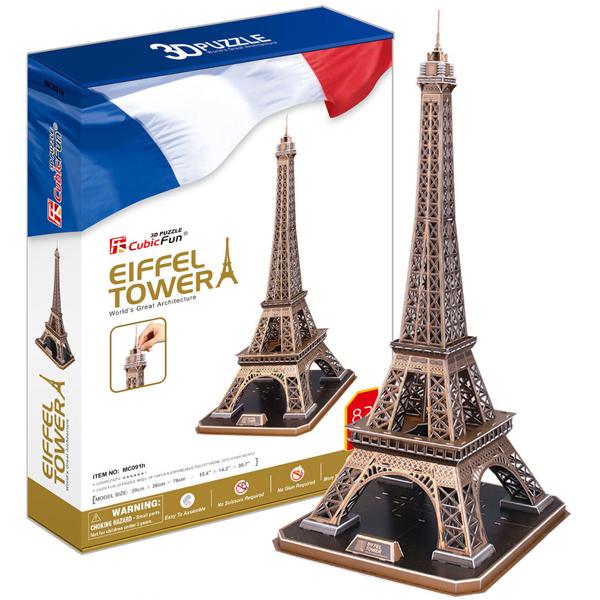 Купить Cubic Fun MC091h Кубик фан Эйфелева Башня (Франция), 3D пазлы Cubic Fun