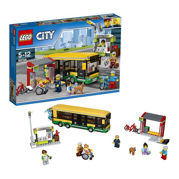 Lego City 60154 Конструктор Лего Город Автобусная остановка, арт:149771 - Город, Конструкторы LEGO