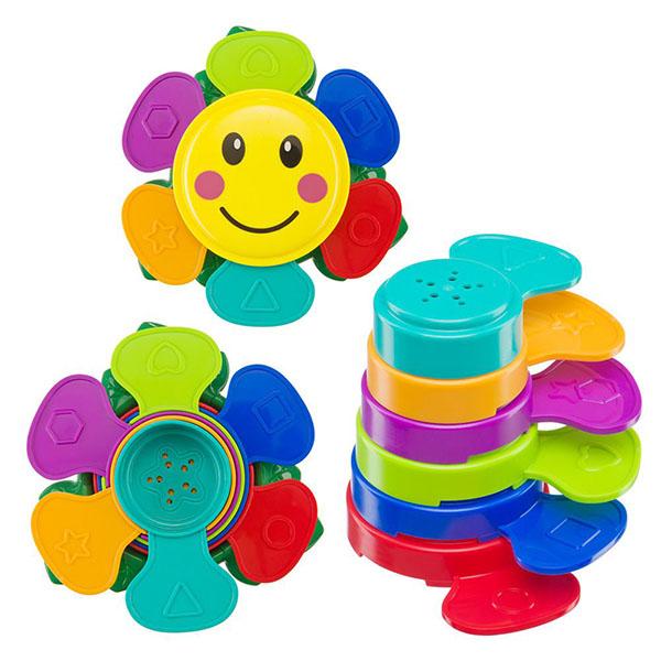 Купить Happy Baby 330641 Набор игрушек для ванной FLOWER PUZZLE , Детские игрушки для ванной Happy Baby