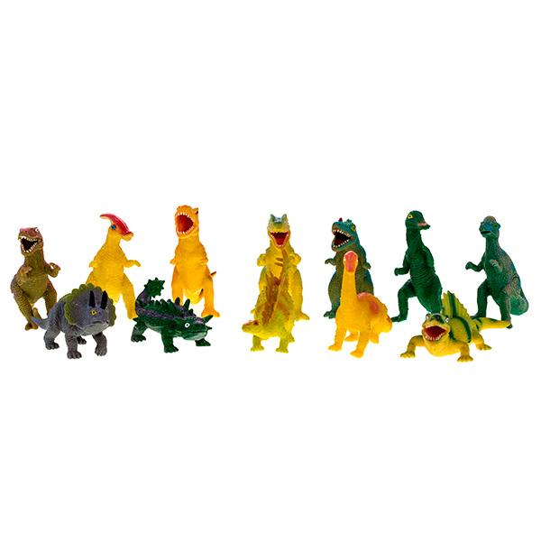 Megasaurs SV12065 Мегазавры Динозавр резиновый с наполнением гранулами малый (в ассортименте), Фигурка Megasaurs (HGL)  - купить со скидкой