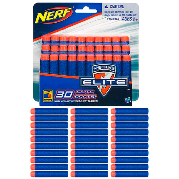 Купить Hasbro Nerf A0351 Нерф 30 стрел для бластеров Элит, Игрушечное оружие Hasbro Nerf
