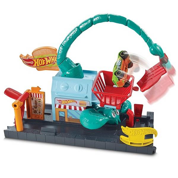 Купить Mattel Hot Wheels FNP62 Хот Вилс Сити с монстрами-злодеями игровой набор, автотрек Mattel Hot Wheels