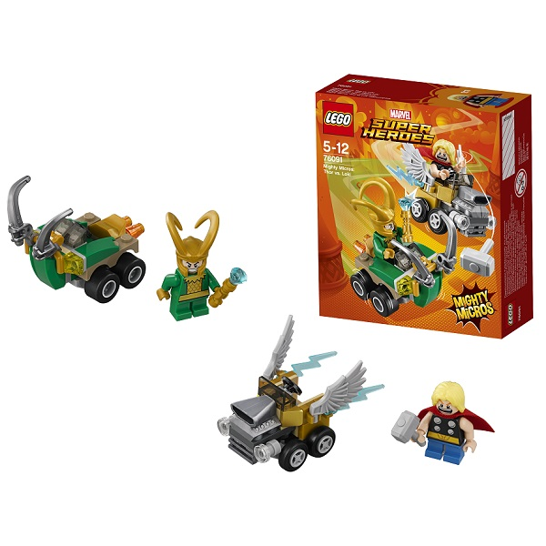 Lego Super Heroes Mighty Micros 76091 Конструктор Лего Супер Герои Тор против Локи - Конструкторы LEGO