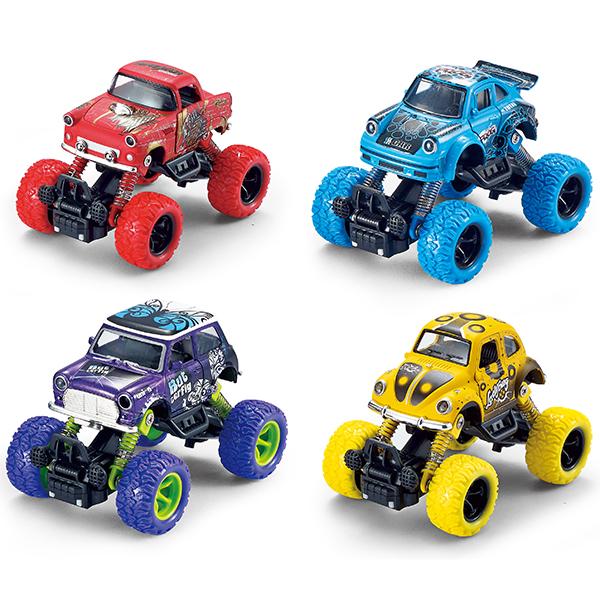 Купить Wincars YK-2204 Машинка классическая с большими колёсами инерционная металл. 13см, (в ассортименте), Игрушечные машинки и техника ТМ Wincars