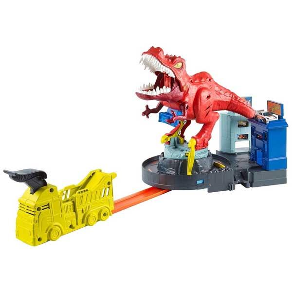 Купить Mattel Hot Wheels GFH88 Хот Вилс Яростный Ти-рекс, Игровые наборы Mattel Hot Wheels