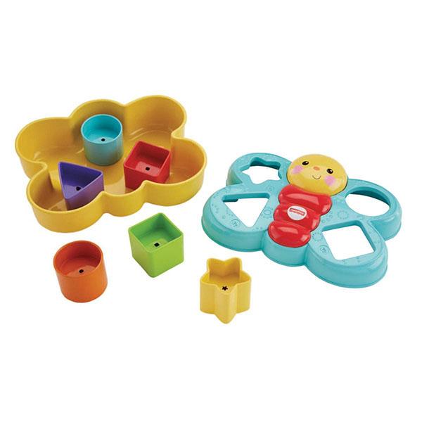 Купить Mattel Fisher-Price CDC22 Фишер Прайс Сортер Бабочка , Развивающие игрушки для малышей Mattel Fisher-Price