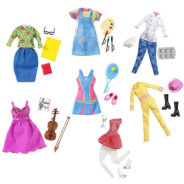 Купить Mattel Barbie CHJ27 Барби Наряды для разных профессий (универсальный размер) (в ассортименте), Одежда для куклы Mattel Barbie
