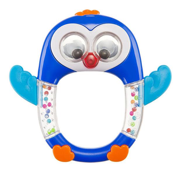 """Развивающие игрушки для малышей Happy Baby 330371 Музыкальная погремушка """"PENGUIN LO-LO"""" фото"""