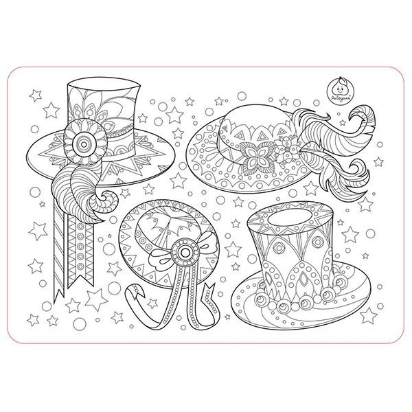 Купить ЯиГрушка 12005YG Коврик-раскраска маленький Аксессуары для девочек - Шляпы размер 48х33, 5 см, Наборы для творчества ЯиГрушка