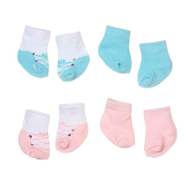 Одежда для куклы Zapf Creation Baby Annabell 792-285 Бэби Аннабель Носочки (2 пары), 2 асс., блистер