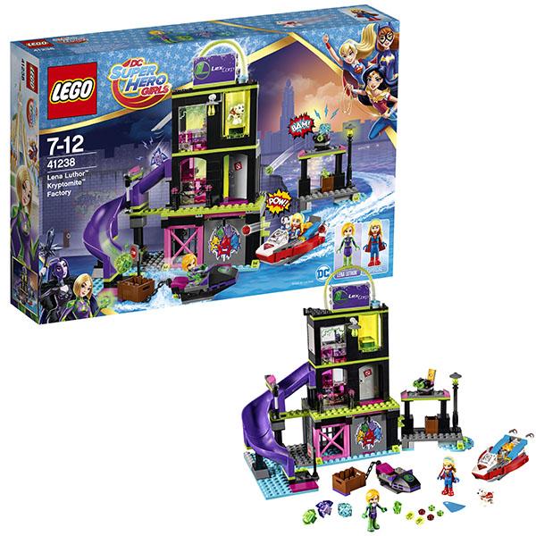 Купить LEGO Super Hero Girls 41238 Конструктор ЛЕГО Супергёрлз Фабрика Криптомитов Лены Лютор, Конструктор LEGO