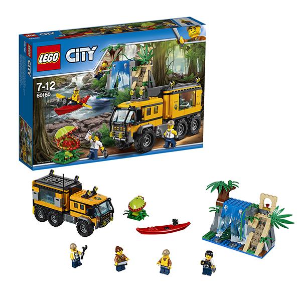 Купить Lego City 60160 Лего Город Передвижная лаборатория в джунглях, Конструктор LEGO