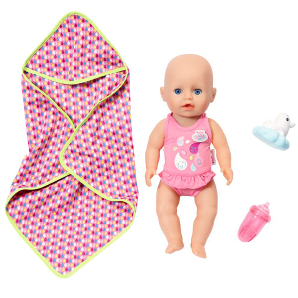 Купить Zapf Creation my little Baby born 825-341 Бэби Борн Кукла для игры в воде, 32 см, Куклы и пупсы Zapf Creation